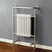 963x673x230mm Large Traditional White Towel Rail Radiator
