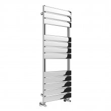 1200x500mm Chrome Flat Panel Ladder Towel Radiator