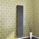 1800x376mm Vertical Anthracite Double Flat Panel Radiator