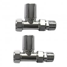Straight Chrome Towel Rail Radiator Valves