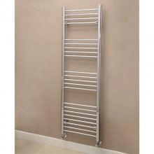1600x500mm Modern Bathroom Heated Towel Rail Straight Round Bar
